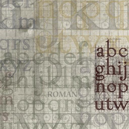 字母 纹理 其他 灰色