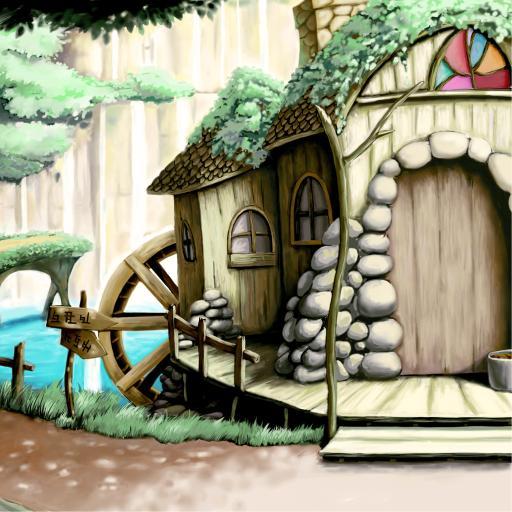 石屋 插画 彩色