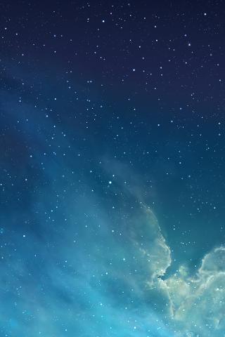 iOS7 壁纸 默认 iphone 风景 蓝色