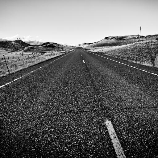 公路 黑白 凄凉 灰色