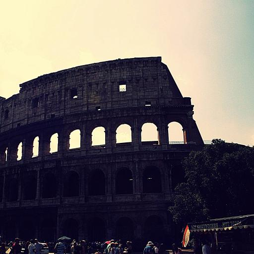 罗马 意大利 建筑 名胜古迹 蓝色
