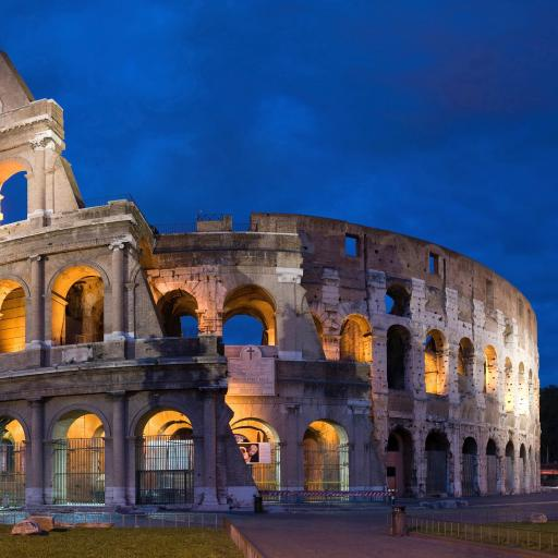罗马 意大利 建筑 名胜古迹 斗兽场 蓝色