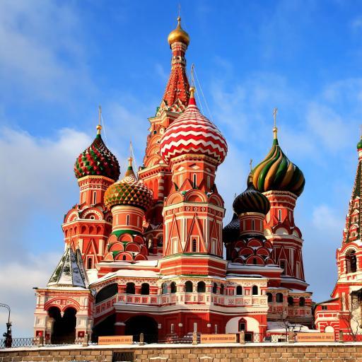 俄罗斯 莫斯科 建筑 教堂 彩色