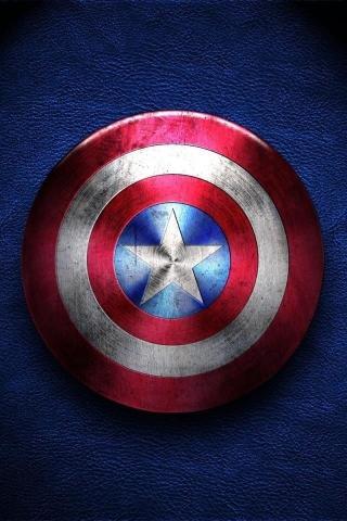 美国队长 盾牌 锁屏 五角星 电影 影视 蓝色