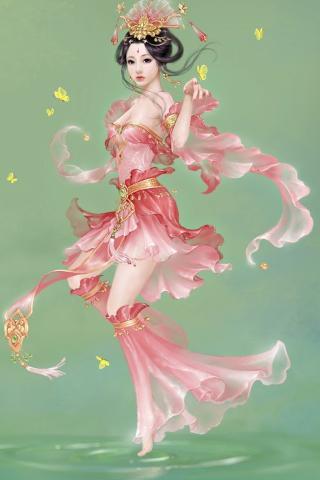 剑网3 少女 女孩 中国风 游戏 绿色