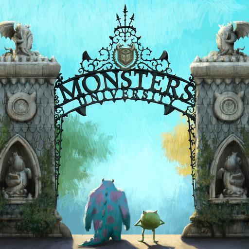 怪兽大学 怪物 可爱 剧照 搞笑 蓝色