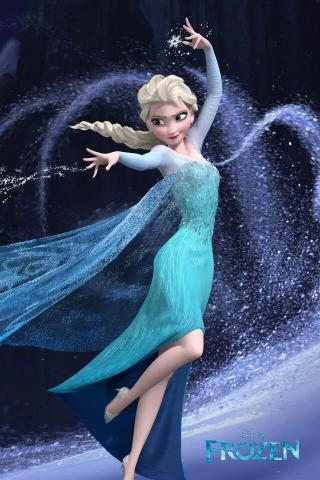 冰雪奇缘 女王 唯美 艾莎 动漫 影视 蓝色