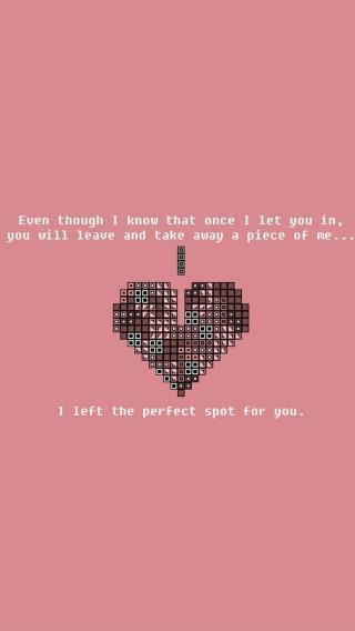 iPhone5壁纸 心心相映 爱情壁纸