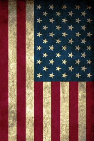 美国 旗帜 插画 怀旧
