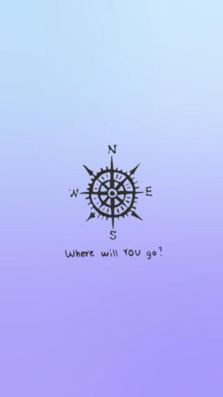 指南针 简约 方向