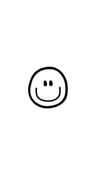 白色 笑脸