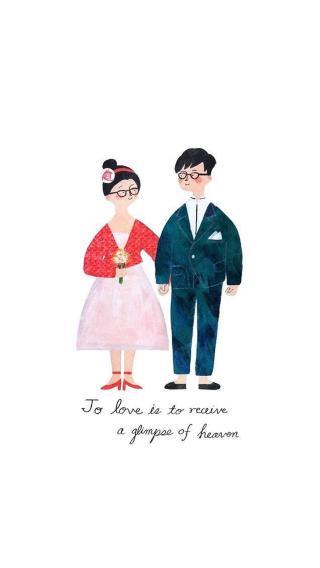 爱 情侣 手绘 爱情 插画