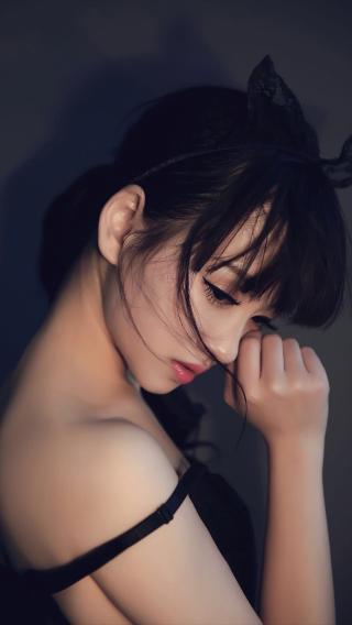 性感 侧颜 美女