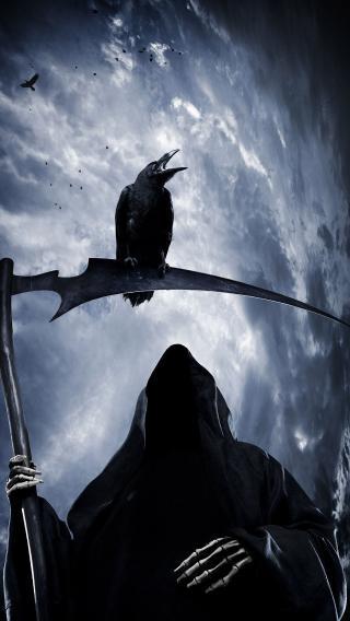 死神乌鸦 魔鬼 黑夜 骷髅 死亡