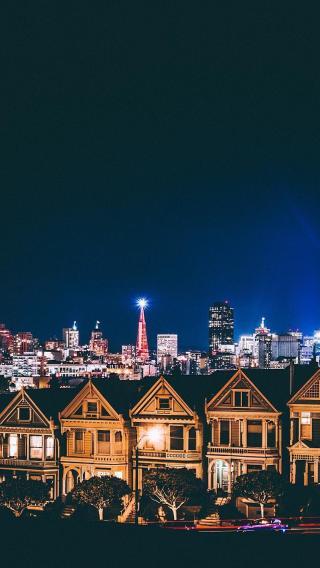 城市夜景 建筑 都市