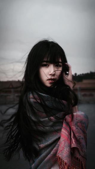 清新可爱美女 文艺 长发