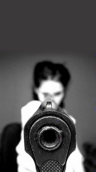 枪口 黑白 欧美 美妞 黑白 性感