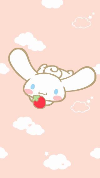 大耳狗 Cinnamoroll 卡通 草莓 粉色