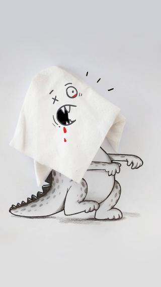 创意 动漫 小怪兽 纸巾