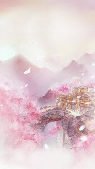 水墨山河 漫画 古建筑 中国风