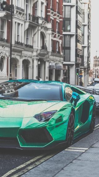 极品跑车 兰博基尼骚绿色