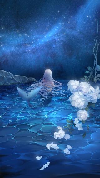 夏沫海歌 唯美 蓝色 高清CG
