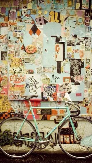 角落自行车