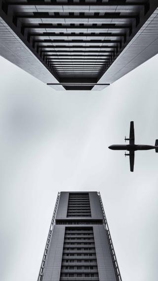 天空 大厦 飞机