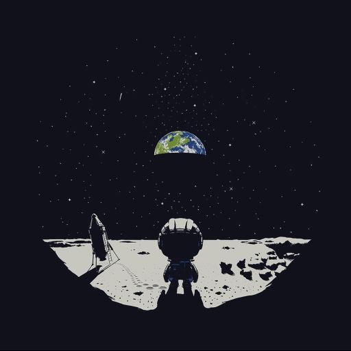 太空 黑白创意