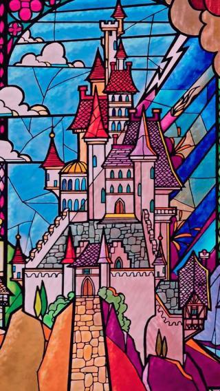卡通 插画 色彩 城堡