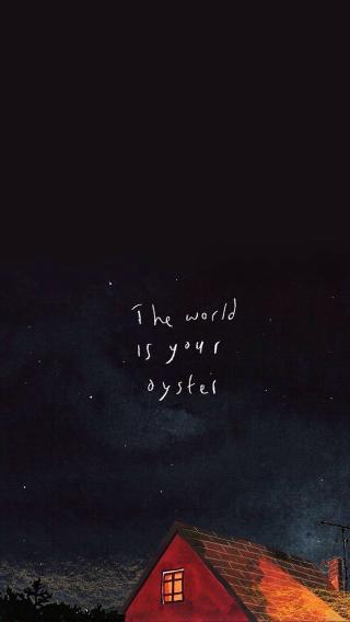 英文 the world is your oyster