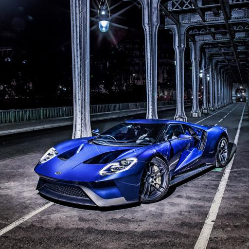 炫酷蓝色跑车
