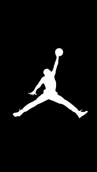 air jordan 篮球 黑白 矢量图