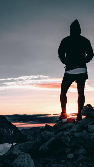 高山 日出 登顶 徒步 运动