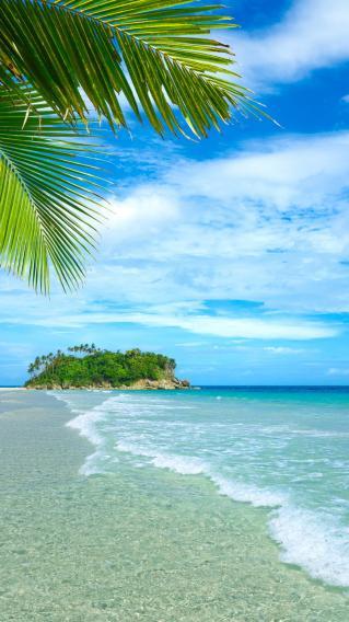 沙滩风景 海岸边 大海