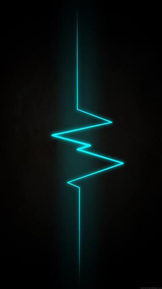 电流 线 发光 简约 黑色