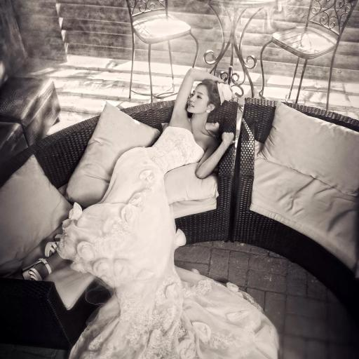 穿婚纱的美女 写真