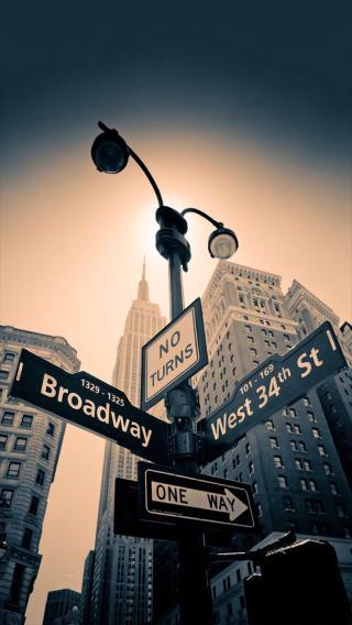 路标 方向 箭头 城市 黑