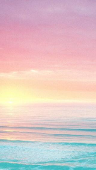 大海 海浪 沙滩 夕阳 清新