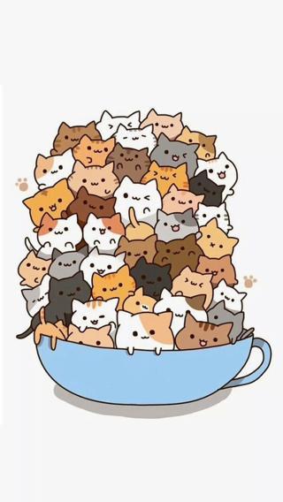 卡通 猫 插画 动漫