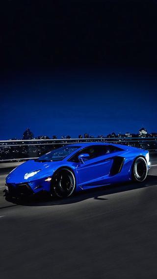 跑车 兰博基尼 名车 超跑 蓝色