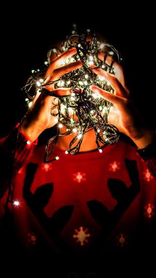 灯 圣诞 发光 红色