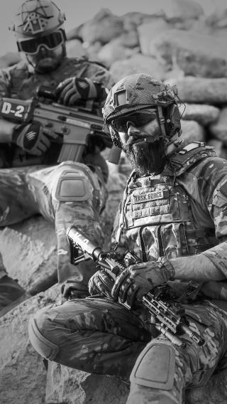 军人 黑白 枪 士兵 战争
