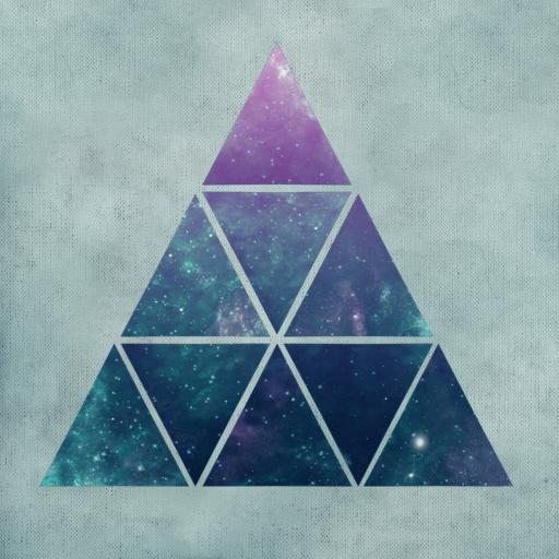 金字塔 星空三角拼接