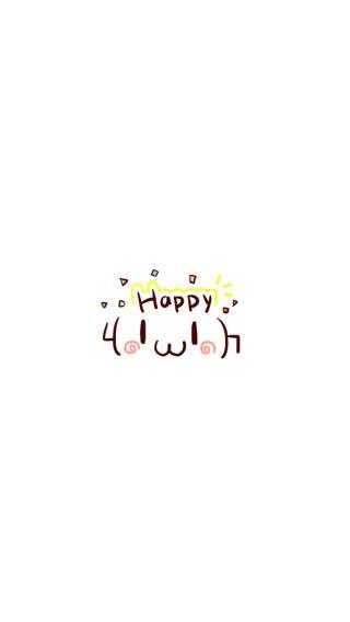 happy 简笔画 白色