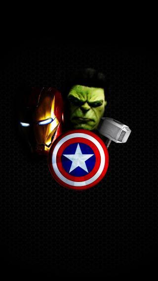 美国队长 绿巨人 雷神 钢铁侠