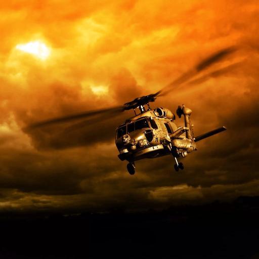 直升飞机 螺旋桨 飞行