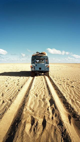 沙漠 巴士 行李 旅行
