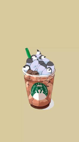 饮品 星巴克 企鹅 咖啡杯