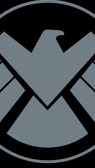 神盾局 标志 logo 黑色